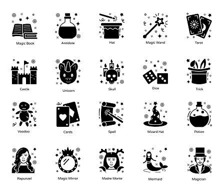 Pack Of Magic Solid Icons