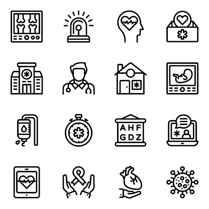 Pack of Medico Linear Icons