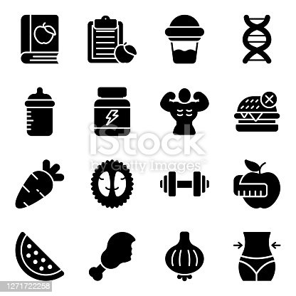 istock Pack of Nutrition Icons 1271722258