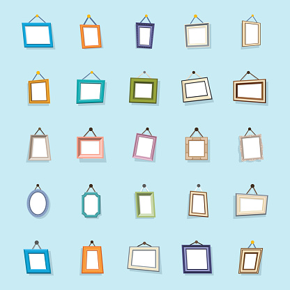 Pack Of Photo Frames Flat Icons