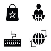 Pack of Science and Education Solid Icons