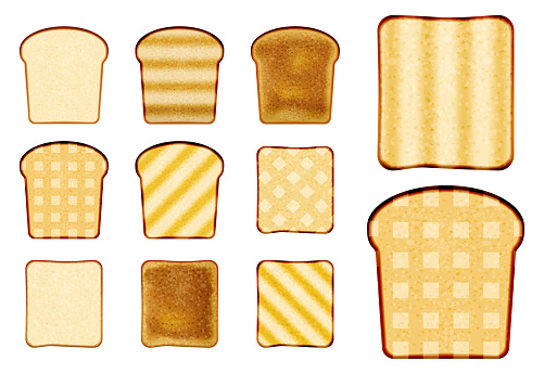 pack of sliced bread or toast bread packaged