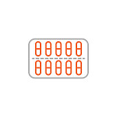 istock Pack Pills Icon with Editable Stroke 1284806181
