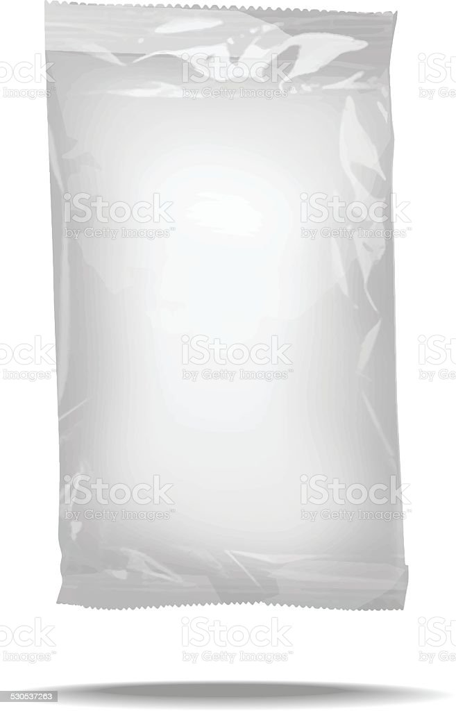 package blank template vector art illustration