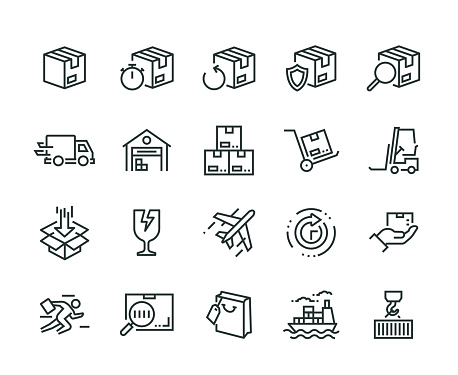 Package Delivery Icon Set