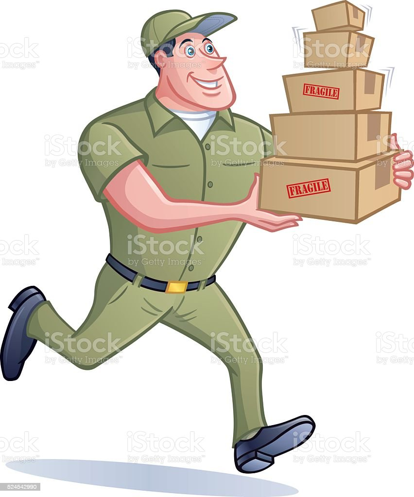 Royalty Free Delivery Person Clip Art, Vector Images ... Package Delivery Clipart
