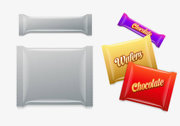 Package design templates Vector package design template. candy clipart stock illustrations