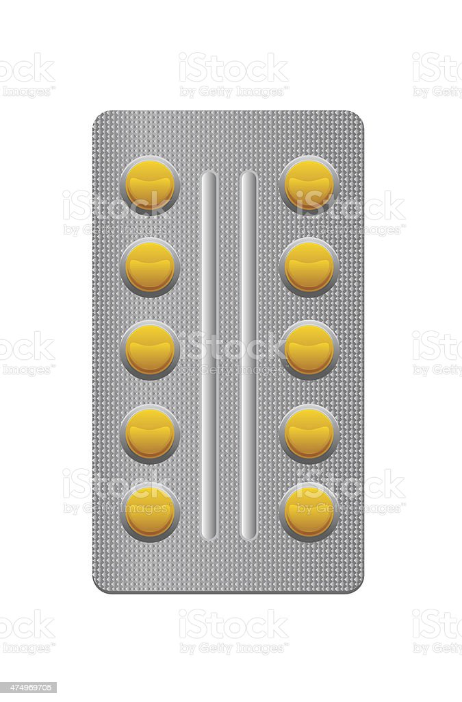 package of pills on white background royalty-free stock vector art