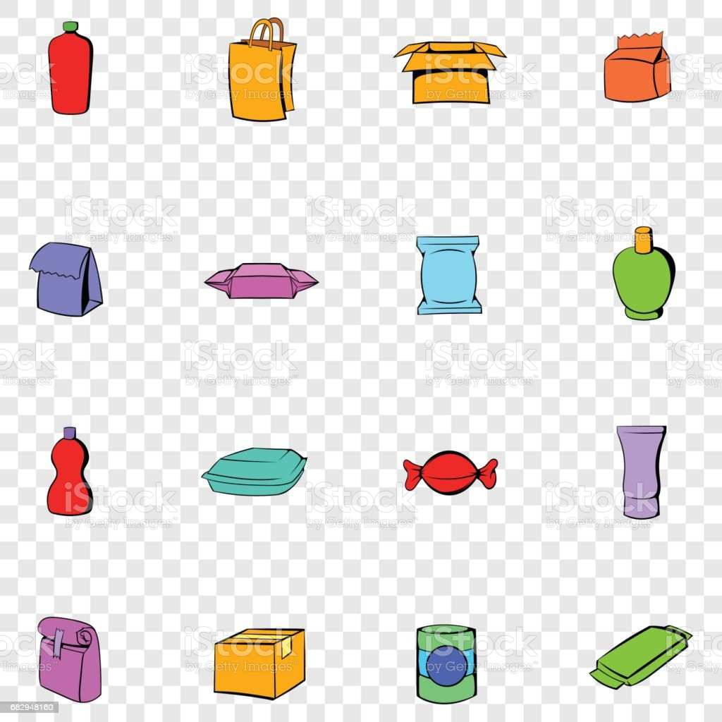 Package set icons royalty-free package set icons stock vector art & more images of bag