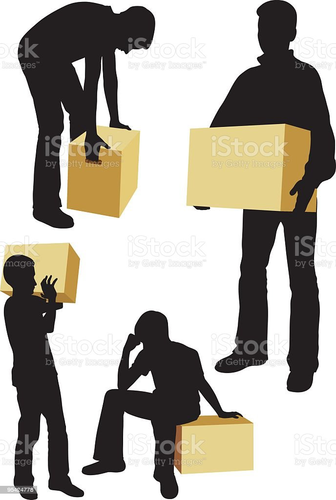 package royalty-free package stock vector art & more images of adult