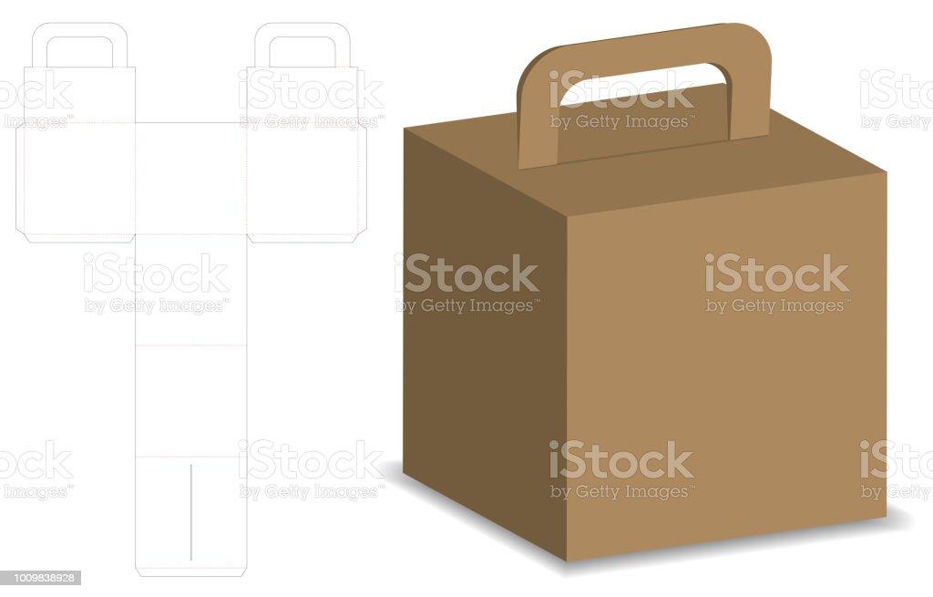 包装ボックス 3 d モックアップ dieline テンプレート 3dのベクター