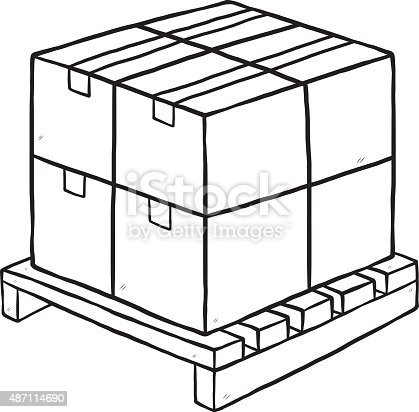 Pallet Clipart Black And White