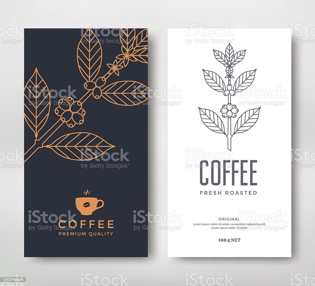Packaging design coffee vector art illustration