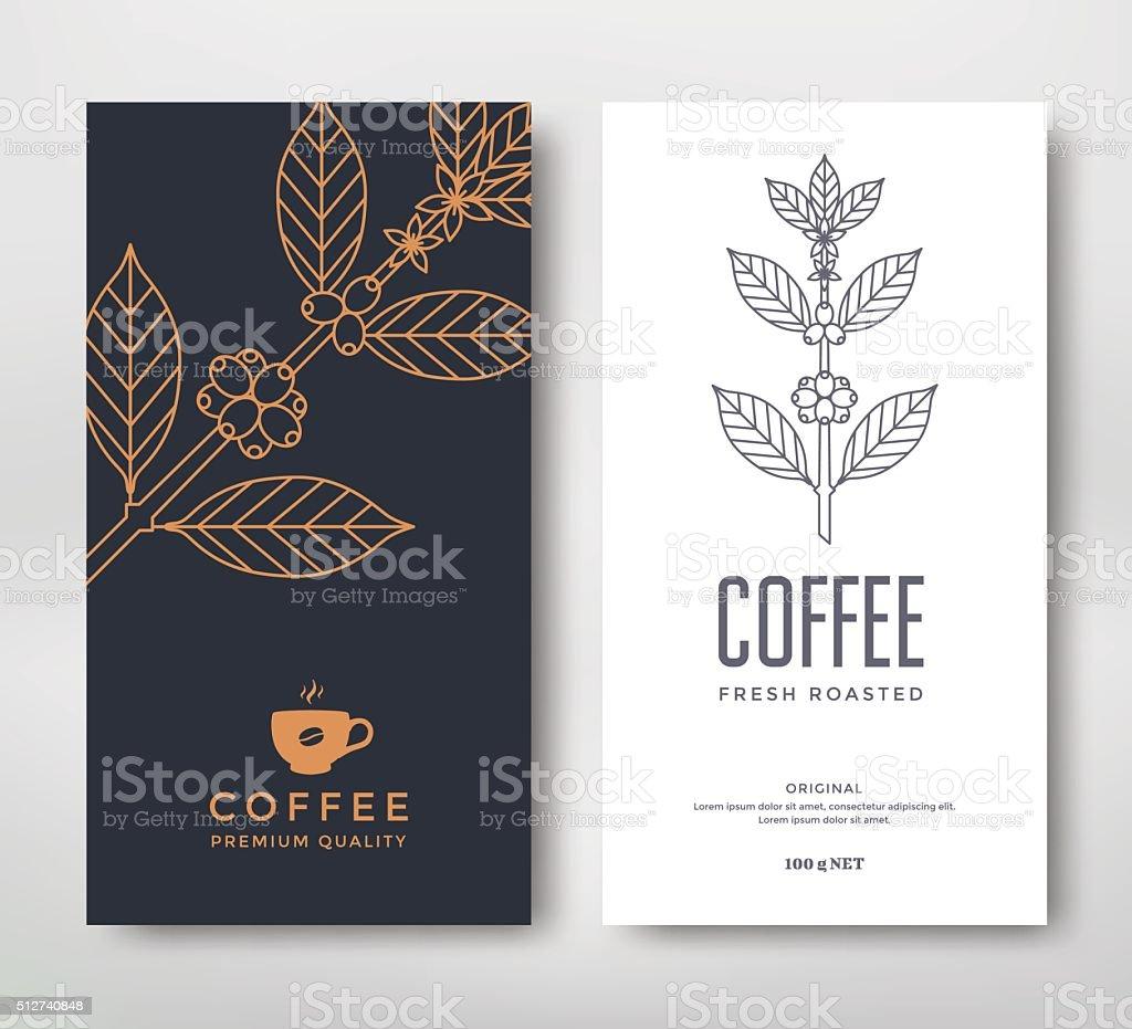 Packaging design coffee向量藝術插圖
