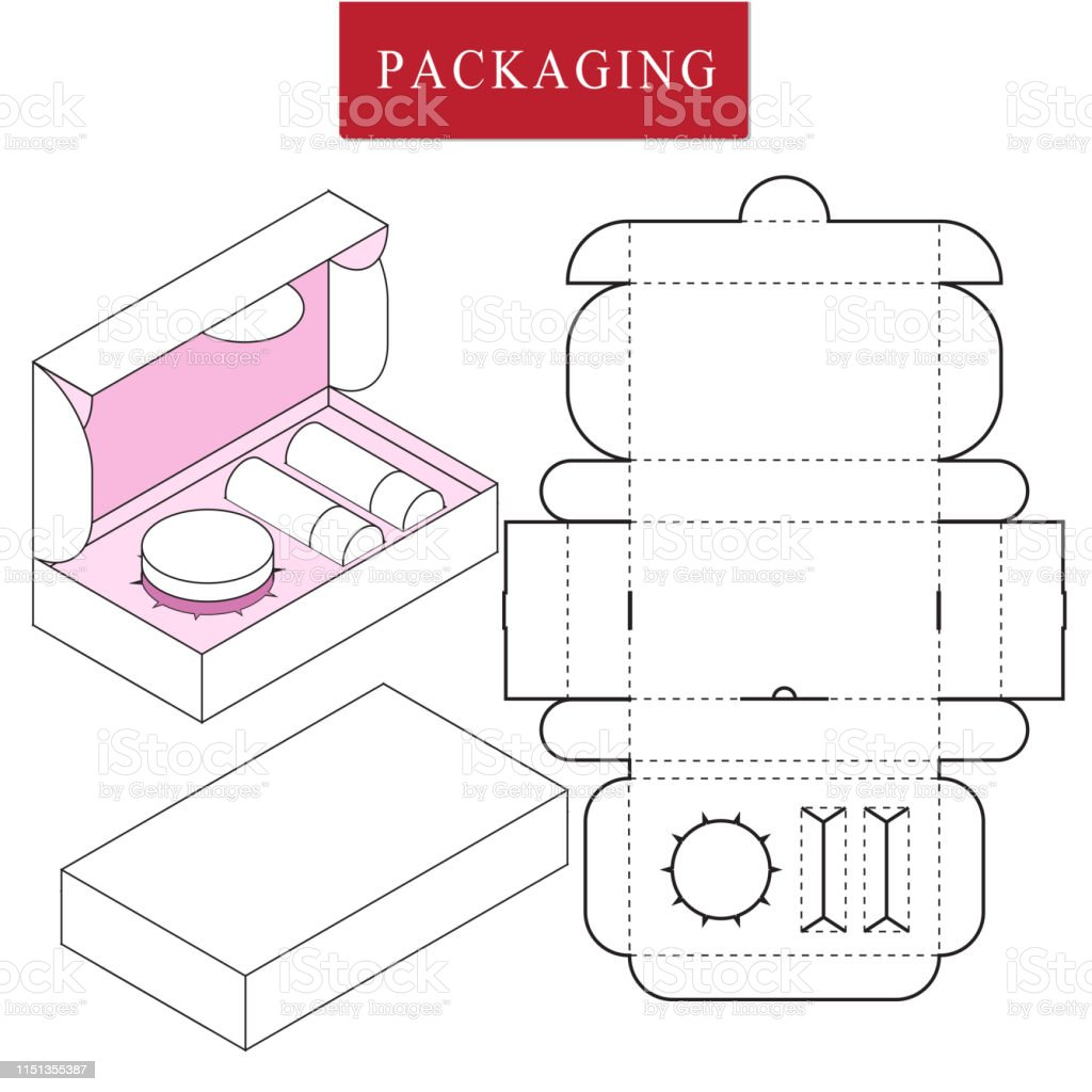 Packaging Design For Product Set Or Gift Set Stock Illustration Download Image Now Istock