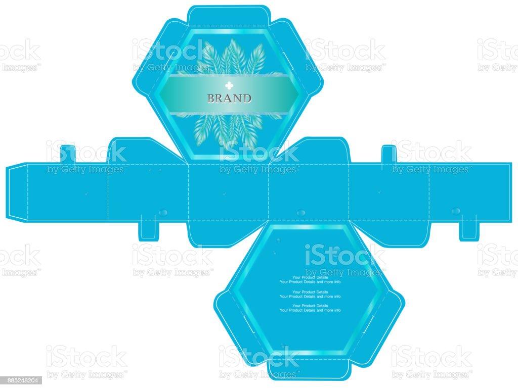 Packaging Design Luxury 6sided Box Design Template Stock Vector Art