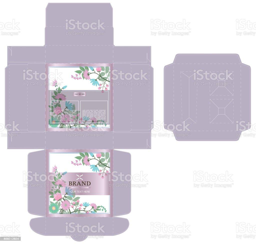 Ilustración de Diseño De Empaque Caja De Lujo Diseño De Plantilla Y ...