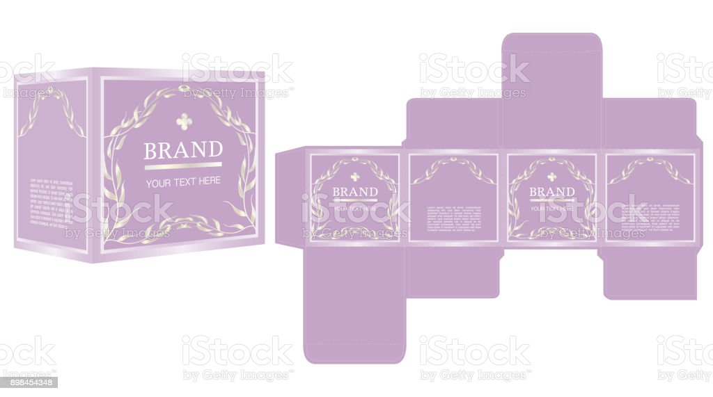 Packaging Design Luxury Box Design Template And Mockup Box Stock