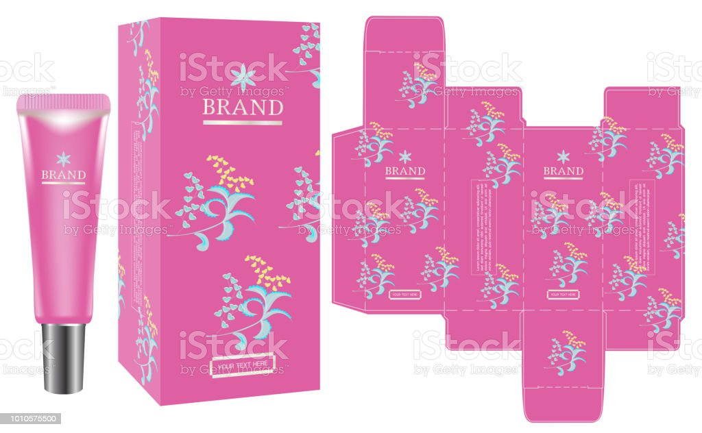 packaging design pink cosmetic container with luxury box design