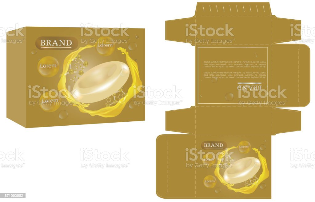 Packaging Design Soap Box Design Template And Mockup Box Stock