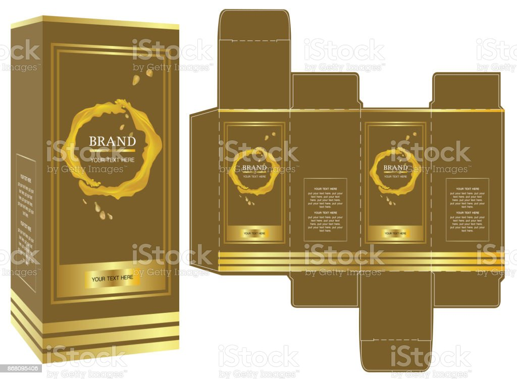 packaging design vector luxury box design template and mockup box