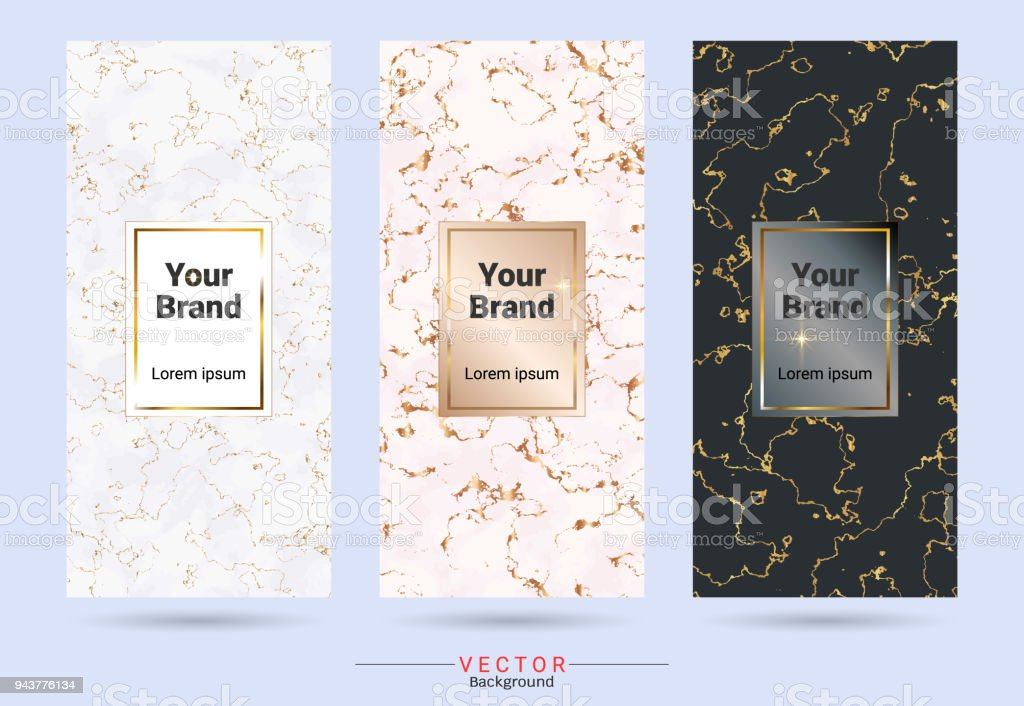 packaging label brands design templates suitable for luxury or
