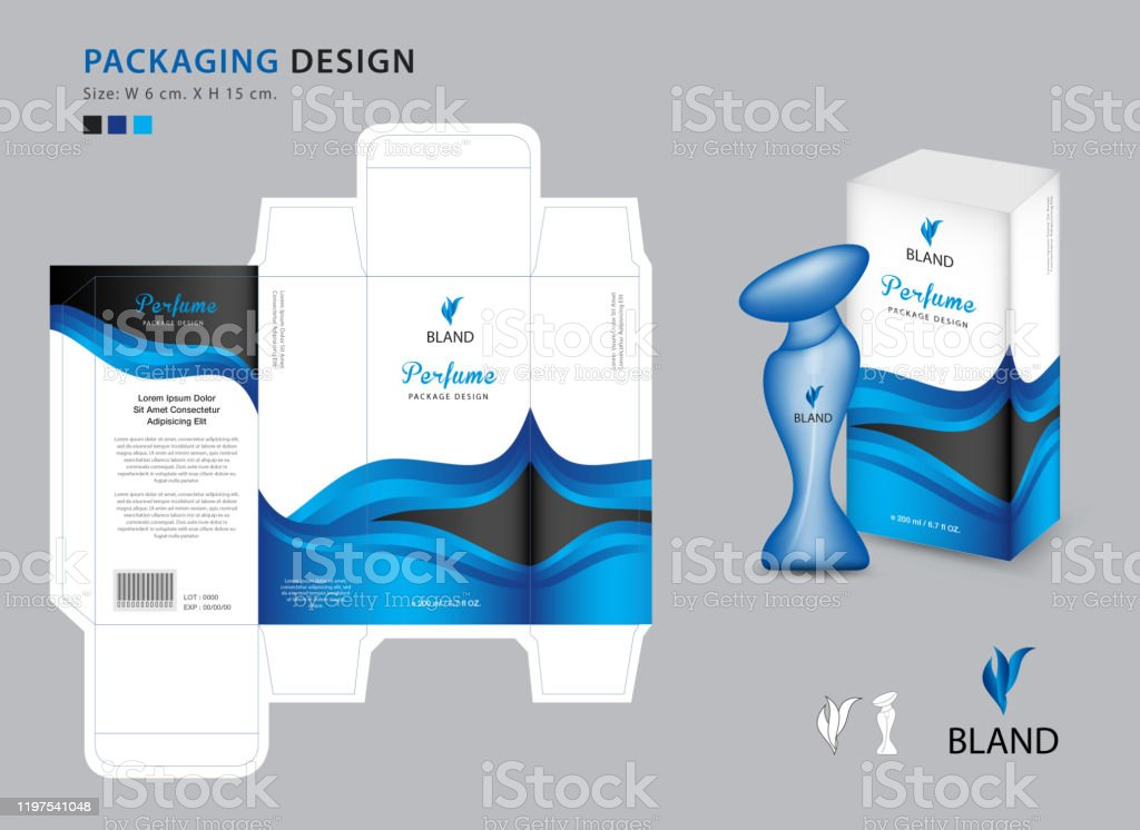 Packaging Perfume Template 3d Box Product Design Creative