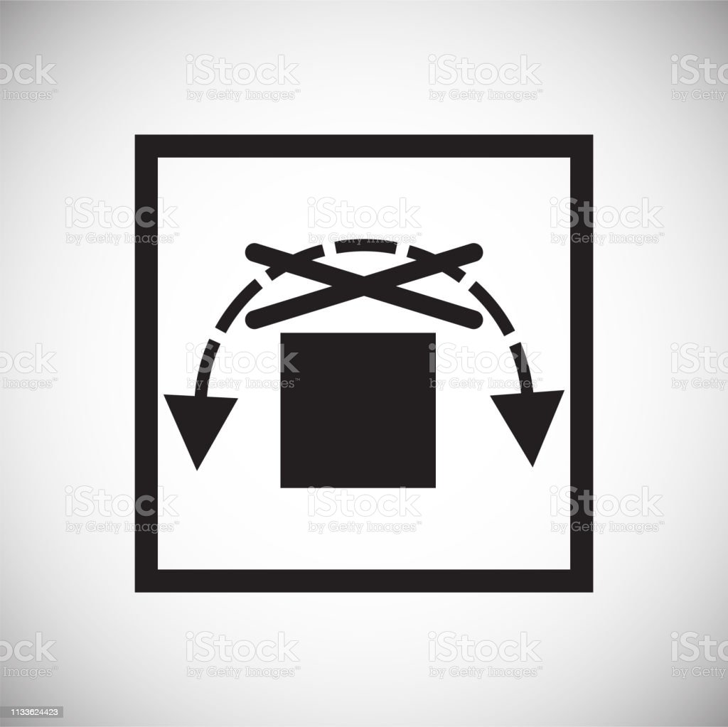 Packaging symbol on background for graphic and web design. Simple...