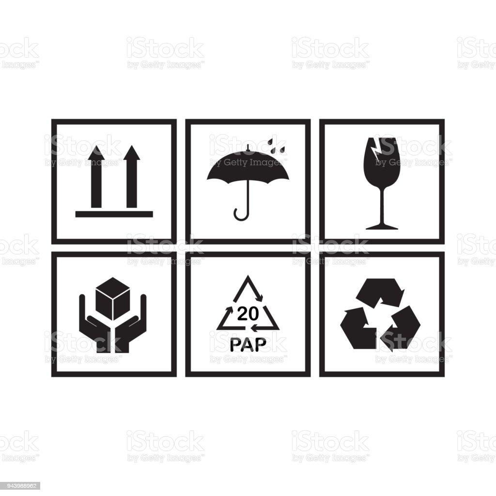 Ilustracao De Conjunto De Simbolos De Embalagens E Mais Banco De