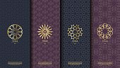 Packaging template islamic element seamless pattern background and  vector design