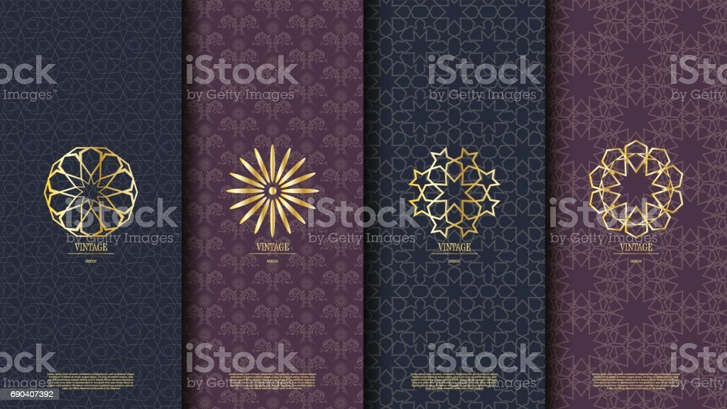 Packaging template islamic element seamless pattern background and  vector design vector art illustration