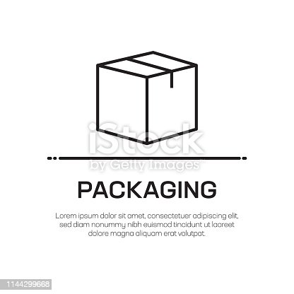 istock Packaging Vector Line Icon - Simple Thin Line Icon, Premium Quality Design Element 1144299668