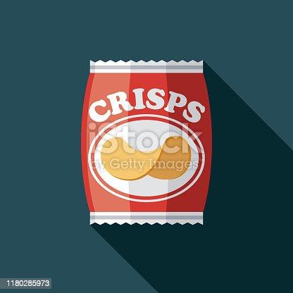 istock Packet of Crisps Pub Icon Set 1180285973