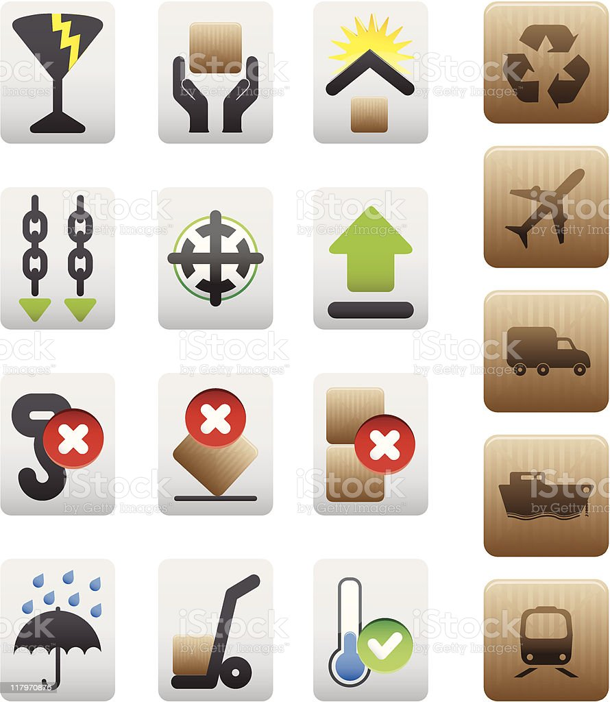 packing box icon set royalty-free stock vector art