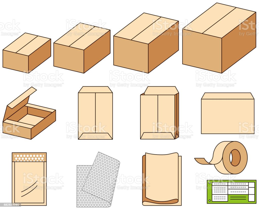 Packing material vector art illustration