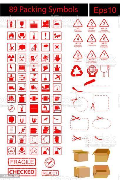 89 Symbole Pakowania Z Brązową Kartą - Stockowe grafiki wektorowe i więcej obrazów Odpady