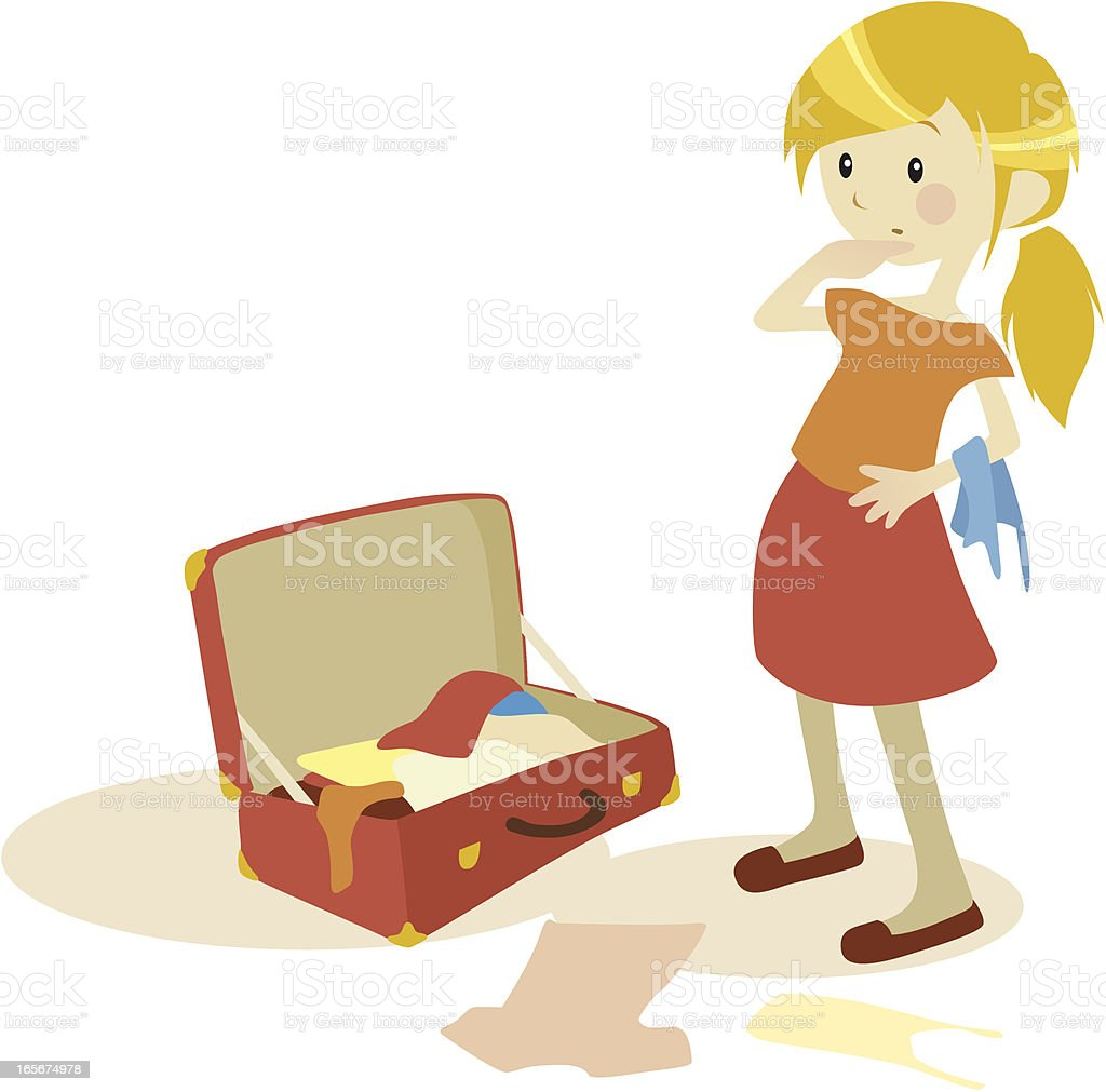 Packing The Suitcase Stock Vector Art & More Images of ... Packing Luggage Clipart