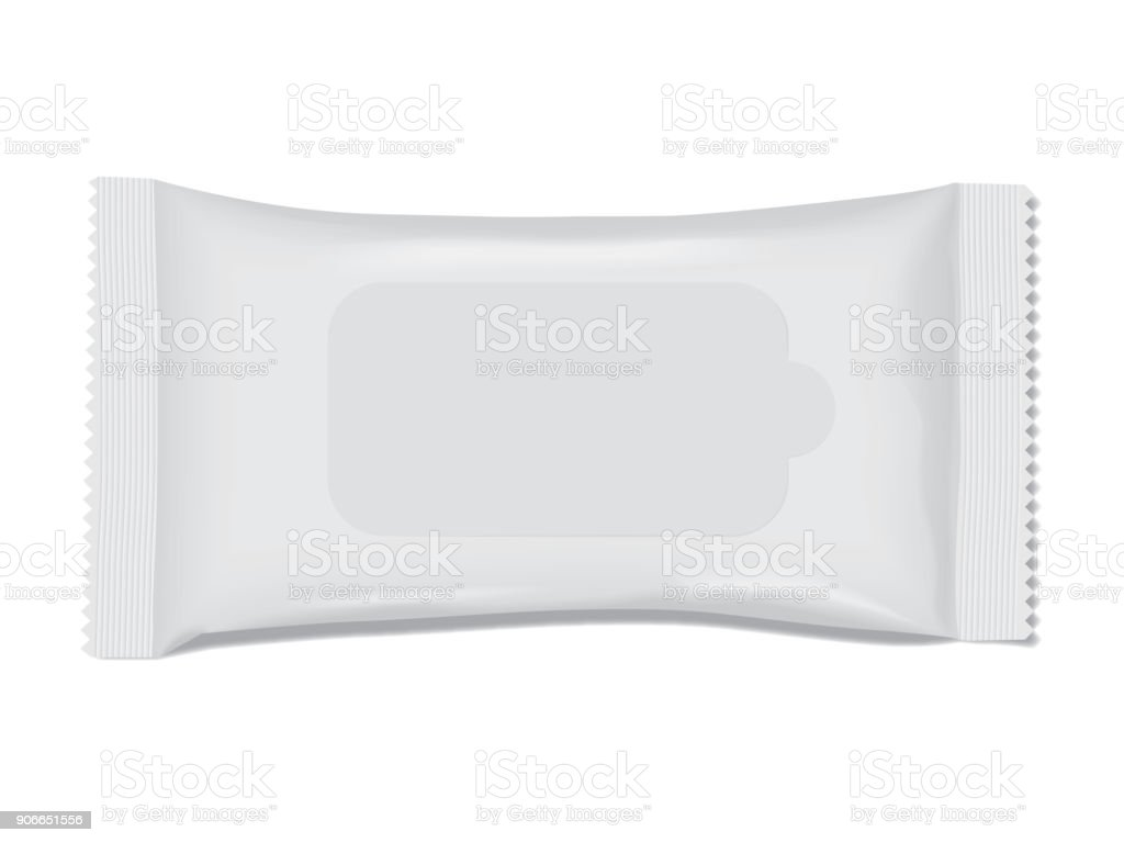 packing with napkins on white background vector art illustration