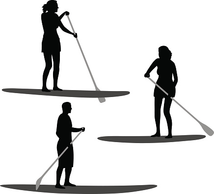 Paddle Boarding Silhouettes