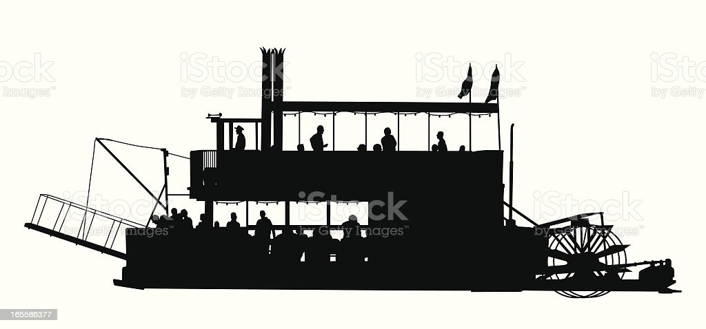 Paddle Boat Vector Silhouette royalty-free paddle boat vector silhouette stock vector art & more images of american culture