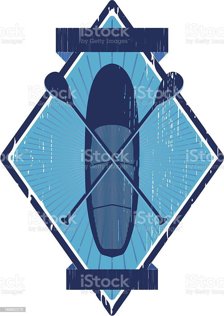 paddle emblem royalty-free stock vector art