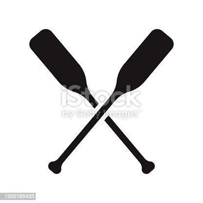 istock Paddle Sports Glyph Icon 1305165433