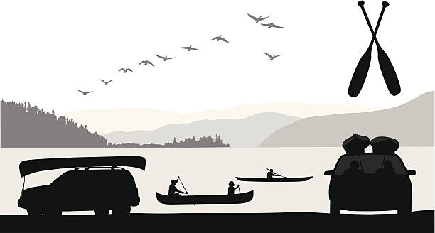 stockillustraties, clipart, cartoons en iconen met paddle sports - paddle