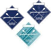 set of paddle emblem.