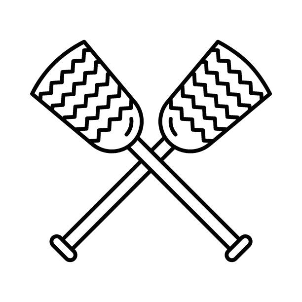 Royalty Free Crossed Paddles Clip Art, Vector Images