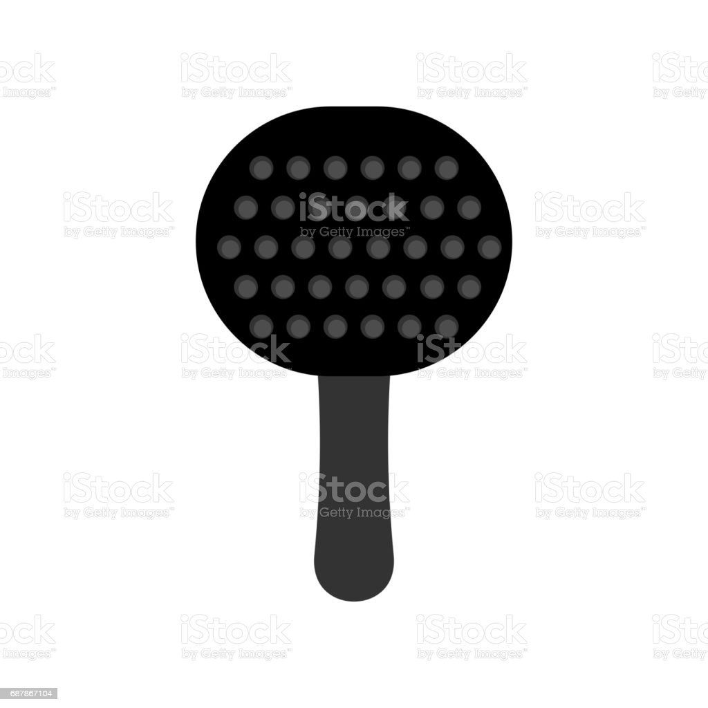 Paddles BDSM isolated. Sex toy for adults vector art illustration