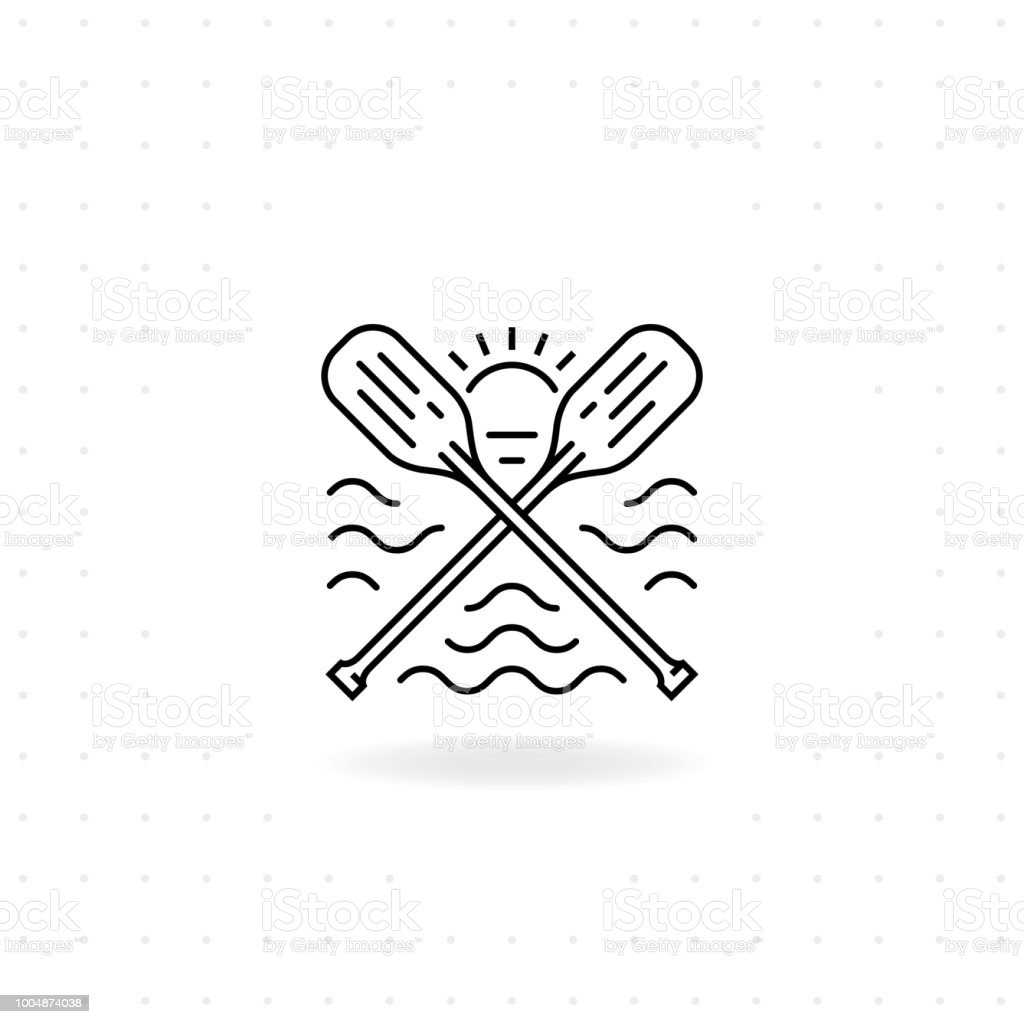 Paddles icon vector art illustration