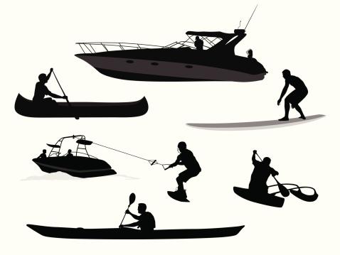 Paddles'n Waves Vector Silhouette