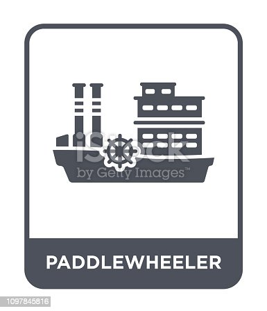 paddlewheeler icon vector on white background, paddlewheeler trendy filled icons from Transportation collection