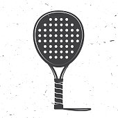 Padel tennis racket icon. Vector illustration